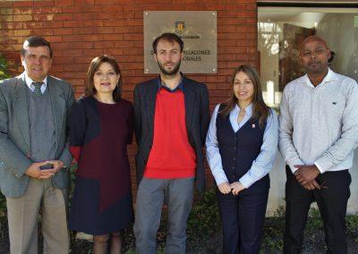 Visita nuevo lector Dr. Mario Gomes a la DRI UdeC